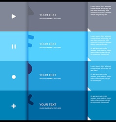 4 color flat design template - vector