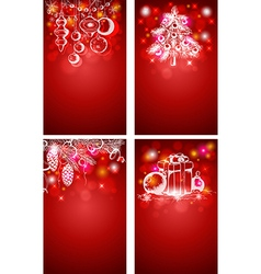 Red christmas vertical backgrounds vector