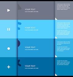 4 color flat design template - vector