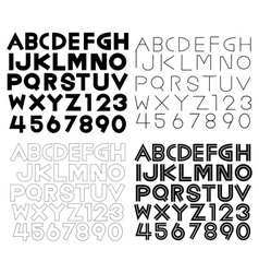 Set of alphabet fonts and numbers vector