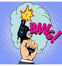 Shot gun bang vector image
