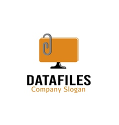 Data files design vector