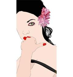 A beautiful and sensual girl vector image vector image