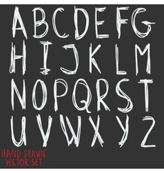 Alphabet letters hand drawn by inc vector