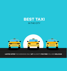 Best taxi cars in the city vector