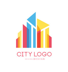 city logo modern design of real estate and city vector image vector image