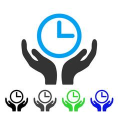 Clock maintenance flat icon vector