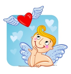 Cupid in love vector