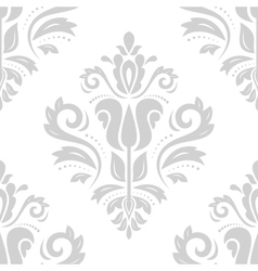 Damask seamless pattern orient gray background vector