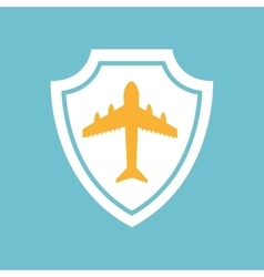 flying plane icon vector image