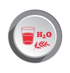 Glass of water herb and water formula icon vector image