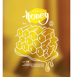 Honeycomb label vector