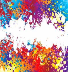ink splat rainbow background vector image vector image