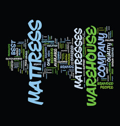 Mattress warehouse text background word cloud vector