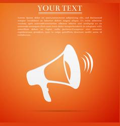 megaphone icon on orange background vector image
