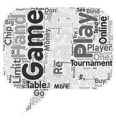 Online poker tournaments vs cash games text vector