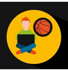 Online training education-student sports vector