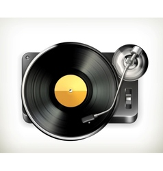Phonograph turntable vector image vector image