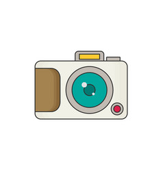 Photo camera icon modern minimal flat design style vector
