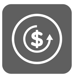 Refund flat squared icon vector