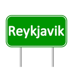 Reykjavik road sign vector