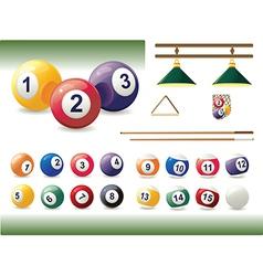 Set of billiard accessories vector