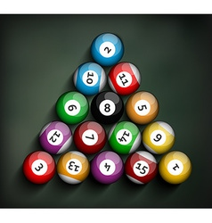 Set of Billiard Balls vector image