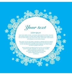 Snowflakes on a blue background with place vector image