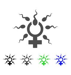 Sperm penetration icon vector