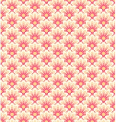 Stylized asian retro seamless pattern with color vector image