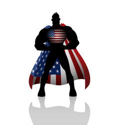 Superhero with usa insignia vector