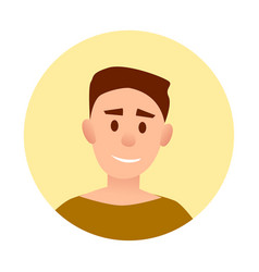 Teenager handsome boy with broad smile avatar vector