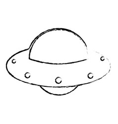 Ufo spaceship technology image sketch vector