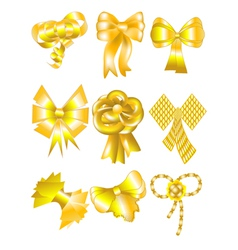 unusual gold bows vector image vector image
