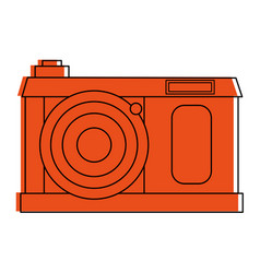 vintage photographic camera icon image vector image vector image