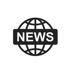 World news flat icon news symbol logo vector