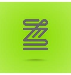 Z letter z type line shape z line logo design vector