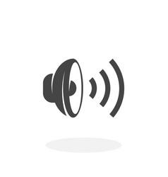 Speaker icon logo on white background vector