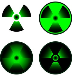 signs of radiation vector image