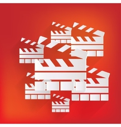 Clapperboard icon film  cinema movie symbol vector