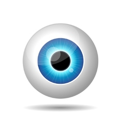 Blue eye on white background vector