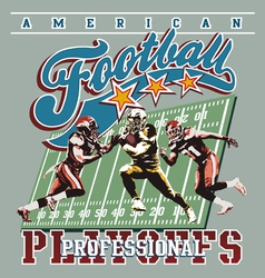 american football playoff vector image