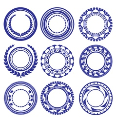 Circle elements pattern vector