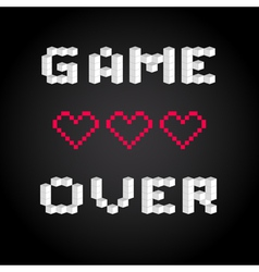 Game over screen old school gaming poster failure vector