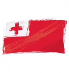 grunge tonga flag vector image