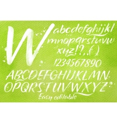 Modern alphabet green background vector