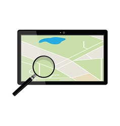 Tablet gps device vector