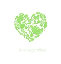 Heart vegetables food vector