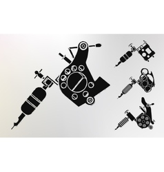 Grunge tattoo machines prints vector