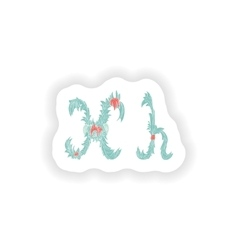 Stiker abstract letter h logo icon in blue vector